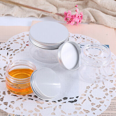 30/60ml Plastic Small Empty Clear Sample Jar Containers Cosmetic Makeup Pot