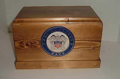 Adult Military Cremation Urn (Navy)