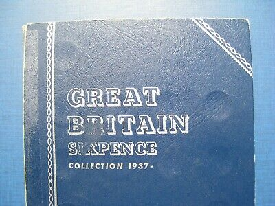 George VI & Elizabeth II Sixpence Set 1937 - 1956 in a Whitman Folder. No 1952.