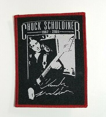 Chuck Schuldiner Red Border WOVEN PATCH