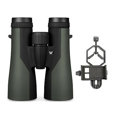 Vortex 10x42 Crossfire Roof Prism Binoculars with Smartphone Adapter Bundle