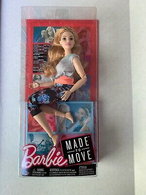 2018 MADE TO MOVE Poseable Curvy Barbie Gray Top Floral Leggings