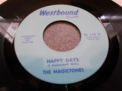 * Magictones . Happy Days / Trying Real Hard . Soul . Westbound . Near Mint 45