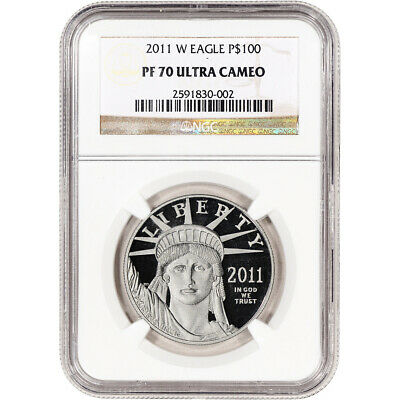 2011-W American Platinum Eagle Proof 1 oz $100 - NGC PF70 UCAM