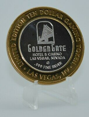 Silver Strike - .999 Fine Silver Golden Gate Las Vegas NV Token of The Year 1999