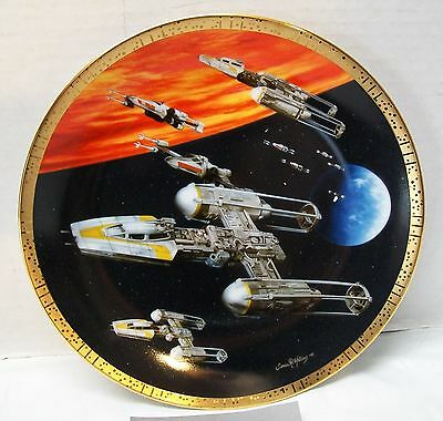 Star Wars Y Wing Fighter 1997 Hamilton Plate Numbered 3171A New in Box with COA