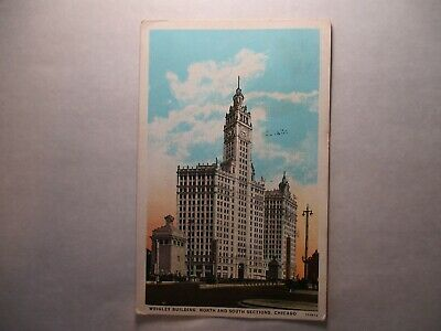 Old Postcard, CHICAGO, ILLINOIS, WRIGLEY BUILDING