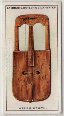 Welsh Crwth Rote Bowed Lyre Music Instrument 1920s Ad Trade Card