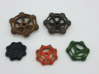5 pcs Vintage Industrial Metal Outdoor Faucet Hose Bib Handle Knob Steampunk Art