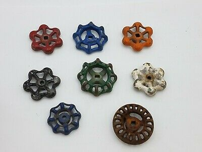 8 pcs Vintage Industrial Metal Outdoor Faucet Hose Bib Handle Knob Steampunk Art