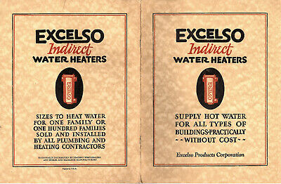 Excelso Indirect Water Heaters 1928 Booklet Excelso Products Corp Buffalo NY