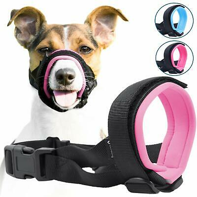 Large PINK Gentle Muzzle Guard for Dogs Prevents Biting Unwanted Chewing Safely