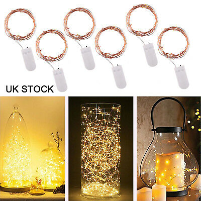 6 X20  LED Battery Micro Rice Wire Copper Fairy String Lights Party White