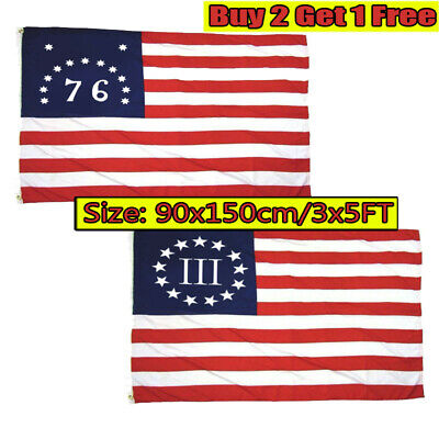 Garden Decor 13 Stars American Star And Stripes USA 3x5 Ft Flag Independence Day