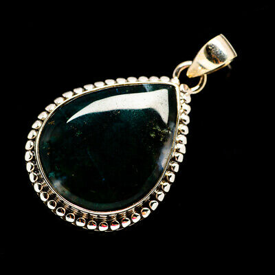 """Green Moss Agate 925 Sterling Silver Pendant 1 1/2"""" Ana Co Jewelry P693311F"""
