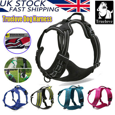 Truelove Dog Puppy Harness Adjustable 3M Reflective Padded Chest Plate 5 Sizes