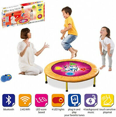 PLENY  36 Kids Mini Trampoline with Handle Safety and Durable Toddler Trampoline 3 Colors Available