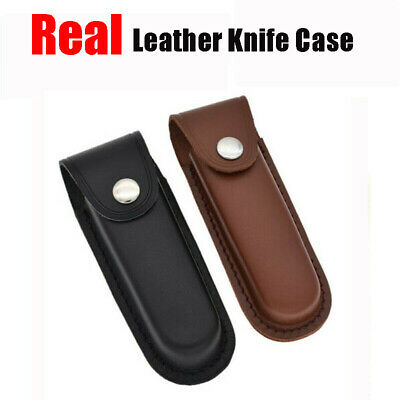 """5"""" Real Leather Sheath Pocket Case Folding Tool Multi Tool Kit Pouch Holster"""