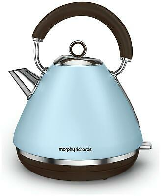 Morphy Richards 102100 Accents Kettle, Stainless Steel 2200 W, Azure