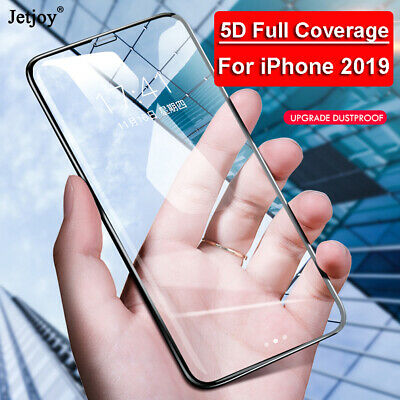 2PCS 5D 9H Film Premium Screen Protector Tempered Glass For Apple iPhone XI 2019