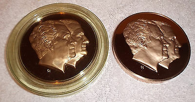 Nixon Agnew Proof Desk Medal  1/2 Lb 1973 Inaugural Committee Bronze Paperweight