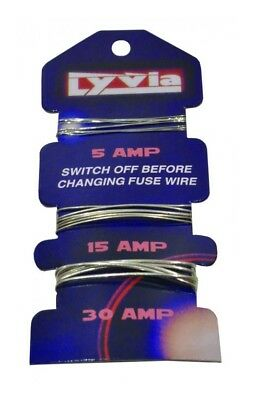 Fuse Wire Card Of 5Amp 15Amp & 30Amp Consumer Fuse Wire For Fuse Boxes