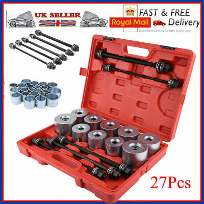 27Pcs Universal Press Pull Sleeve Kit Remove Install Bushes Bearings Garage Tool