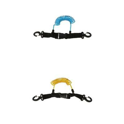 2xScuba Diving Coil Camera Lanyard & Double Side Clips Quick Release Buckle