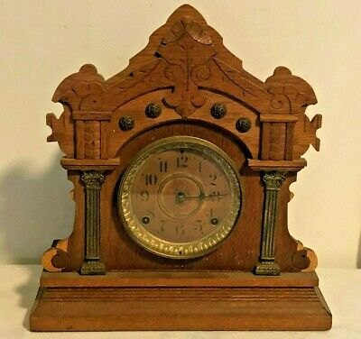 Antique SETH THOMAS No 103 Mantle Shelf Clock w/ KEY Needs Repair Restoration