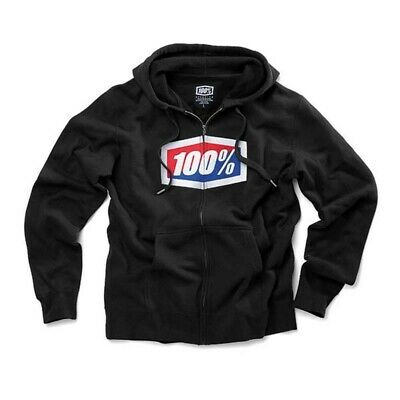 """""Felpa Casual Hoodie Motociclismo 100% """"Official"""" Nera (S)"""