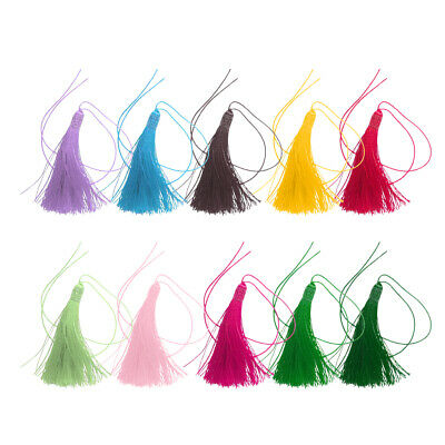 10x Silky Bookmark Tassels Bookmarks for Jewelry Making DIY Craft Accessory
