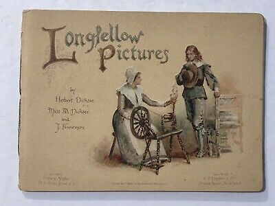 1900's Longfellow Pictures Booklet Ernest Nister Fine German Printer Beautiful