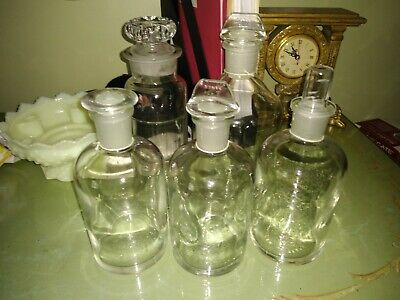 Pyrex clear glass apothecary jars(set of 5)