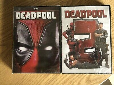 Deadpool 1 and Deadpool 2 DVD 2-Movie Bundle New & Sealed!