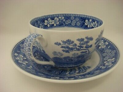 Lovely Jumbo Sized Cup & Saucer - Spode Blue Room Collection in the Tower Design