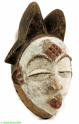 Punu Maiden Spirit Mask Mukudji White Gabon African Art SALE WAS $275.00