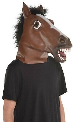 Horse Head Mens Adult Animal Costume Full Latex Mask