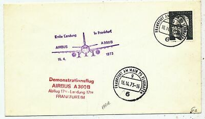 Timbre Avion Aviation Allemagne Demonstratiosflug Airbus A-300B Frankfurt 1973