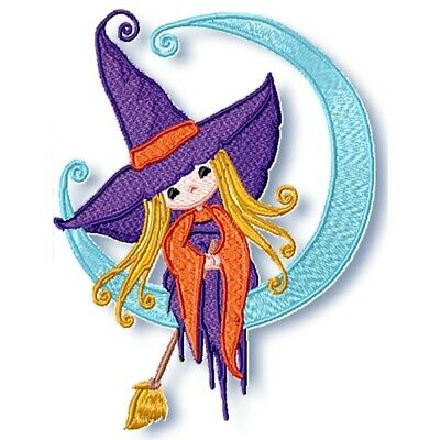 LITTLE WITCH  10 MACHINE EMBROIDERY DESIGNS CD or USB