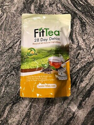 FIT TEA 28 DAY DETOX - Fat Burner -CLEANSE WEIGHT LOSS, NON GMO NEW SEALED
