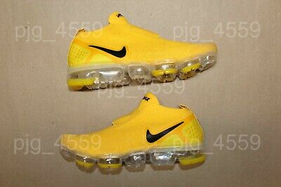 Men's Nike Air Vapormax Flyknit Moc 2 Laceless Size 7 Yellow Black Vapor Max