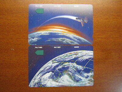 Phonecards Rare Telstra $2 Earth Mint & $5 Satelite Mint Cambodia phonecard
