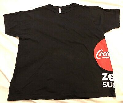Coca Cola Zero Sugar Logo Black XL T-Shirt Coke Promo Soft Drink