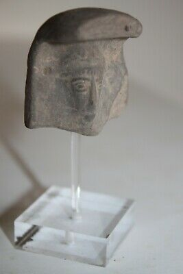 ANCIENT GREEK HELLENISTIC POTTERY TERRACOTTA HEAD 4/3rd CENTURY BC