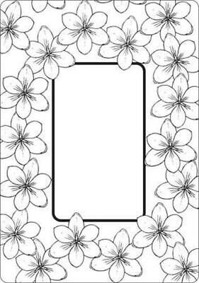 Crafts-Too Embossing Folder Tulip Frame 4.25x5.5