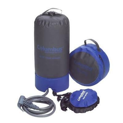 Columbus Shower 10l With Foot Pump Azul|Gris T36328/ Equipamiento camping Unisex
