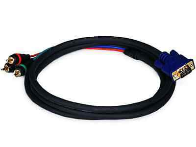 Monoprice 6ft VGA to 3 RCA Component Video Cable (HD15 - 3-RCA)