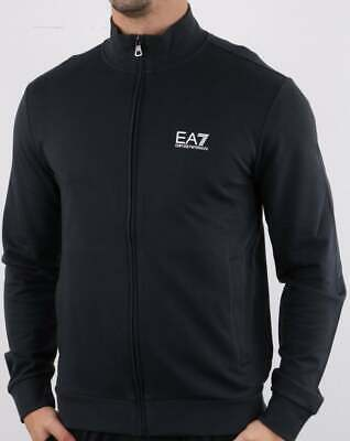 Emporio Armani EA7 Track Top in Night Blue - cotton zip through sweatshirt