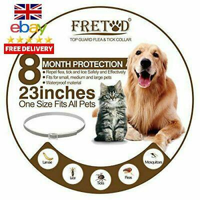 Fretod Flea And Tick Collars For Dogs Cats – 8 Month Protection –Adjustabl
