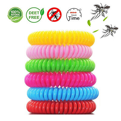 10pcs Mosquito Repellent Bracelets Band Pest Control Insect Bug Repeller FG